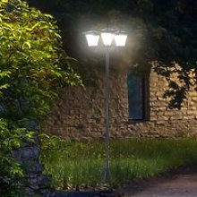 Outsunny 3-Solar Powered Lamp Post, IP44,