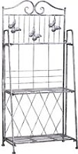 Outsunny 3-Tier Metal Folding Plant Stand Display