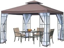 Outsunny 3m x 3m Gazebo Marquee Metal Party Tent