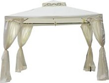 Outsunny 3x3m 2-Tier Polyester Draped Outdoor