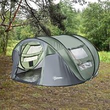 Outsunny 4-5 Person Pop-up Camping Tent Waterproof