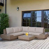 Outsunny 4 Pcs Rattan Sofa Furniture Set