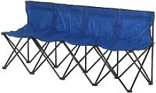 Outsunny 4-Seater Chair Bench w/ Cooler Bag Metal