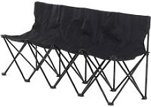 Outsunny 4-Seater Folding Steel Camping Bench w/