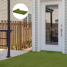 Outsunny 4 x 1m Artificial Grass Turf 30mm Pile Height Non-toxic Roll Grass Carpet Fake Grass Mat with Drainage Holes UV resistance for Outdoor