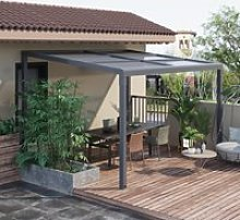 Outsunny 4 x 3(m) Outdoor Hardtop Pergola PC Roof