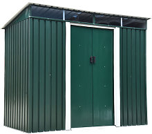 Outsunny 4 x 6ft Pent Roofed Metal Garden Shed