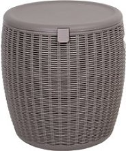 Outsunny 45L Outdoor Rattan-Effect Lift-Top Ice