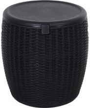 Outsunny 45L Outdoor Rattan-Effect PP Lift-Top Ice