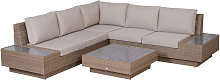 Outsunny 4PC Rattan Sofa Set 2 Loveseat 1 Seat