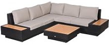Outsunny 4Pcs Sectional Rattan Sofa Garden