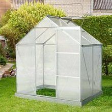 Outsunny 4x6FT Walk-In Greenhouse Polycarbonate