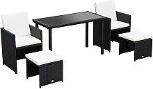 Outsunny 5 PCs Rattan Garden Furniture Wicker