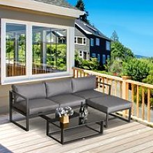 Outsunny 5 Pieces Outdoor Patio Furniture Set,
