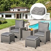 Outsunny 5 Pieces Outdoor PE Rattan Patio
