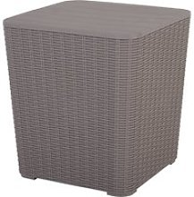 Outsunny 50L Outdoor Rattan-Effect Lift-Top Ice