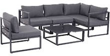 Outsunny 6 Pc Outdoor Sectional Sofa Set