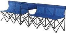 Outsunny 6-Seater Folding Steel Camping Bench w/