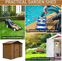 Outsunny 6 x 7ft Outdoor Metal Garden Shed