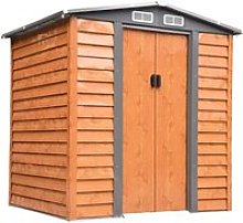 Outsunny 6ft x 5ft Metal Garden Shed House Hut