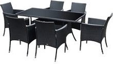 Outsunny 7pc Rattan Garden Furniture Dining Set -