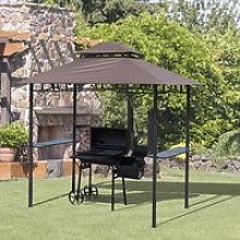 Outsunny 8 ft New Double-Tier BBQ Gazebo Grill