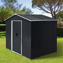 Outsunny 8 x 6ft Garden Storage Shed Double Door