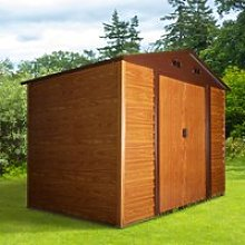 Outsunny 9.1ft x 6.4ft Metal Garden Shed House Hut