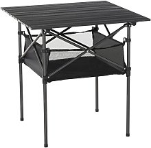 Outsunny Aluminium Folding Camping Table w/ Mesh