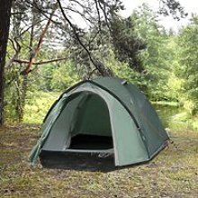 Outsunny Camping Dome Tent 2 Room for 3-4 Person