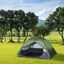 Outsunny Camping Tent for 2 Person Waterproof
