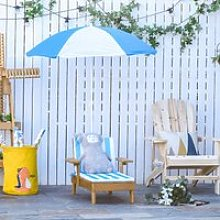 Outsunny Chaise Lounge Chair Wooden for Kids
