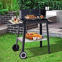 Outsunny Charcoal BBQ Grill, 87Lx45Wx83H cm-Black