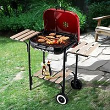 Outsunny Charcoal Steel Grill Portable BBQ Camping
