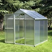 Outsunny Clear Polycarbonate Greenhouse Aluminium