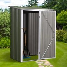 Outsunny Corrugated Garden Metal Storage Shed