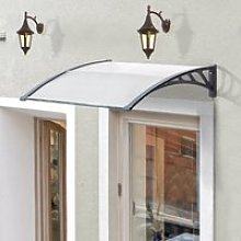 Outsunny Door Canopy Awning Outdoor Window Rain