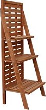 Outsunny Fir Wood 3-Tier Outdoor Plant Ladder