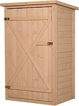 Outsunny Fir Wood Compact Storage Shed w/ 2