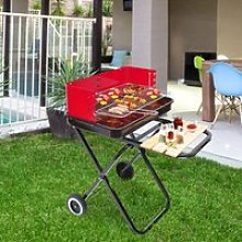 Outsunny Foldable Charcoal Barbecue Grill W/