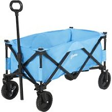 Outsunny Folding Outdoor Storage Trolley Cart w/
