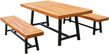 Outsunny Garden 3 Pieces Acacia Wood Picnic Table