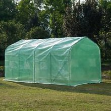 Outsunny Garden 4x2m Polytunnel Walk-in Greenhouse