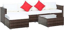 Outsunny Garden Patio Rattan Furniture 6 pcs