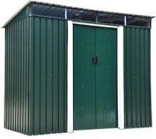 Outsunny Garden Shed, 238.4Lx123.5Wx180-194H cm,