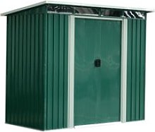 Outsunny Garden Shed, 238.4Lx193.2Wx179.6-202.6H