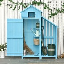 Outsunny Garden Shed Wooden Firewood House Storage