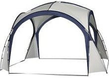 Outsunny Gazebo Party Tent, 3.5x3.5m-Cream/Blue