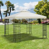 Outsunny Gazebo Replacement Canopy 3x3 m Cream