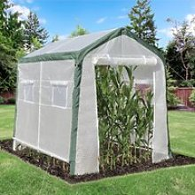 Outsunny Greenhouse with Roll Up Door and 4